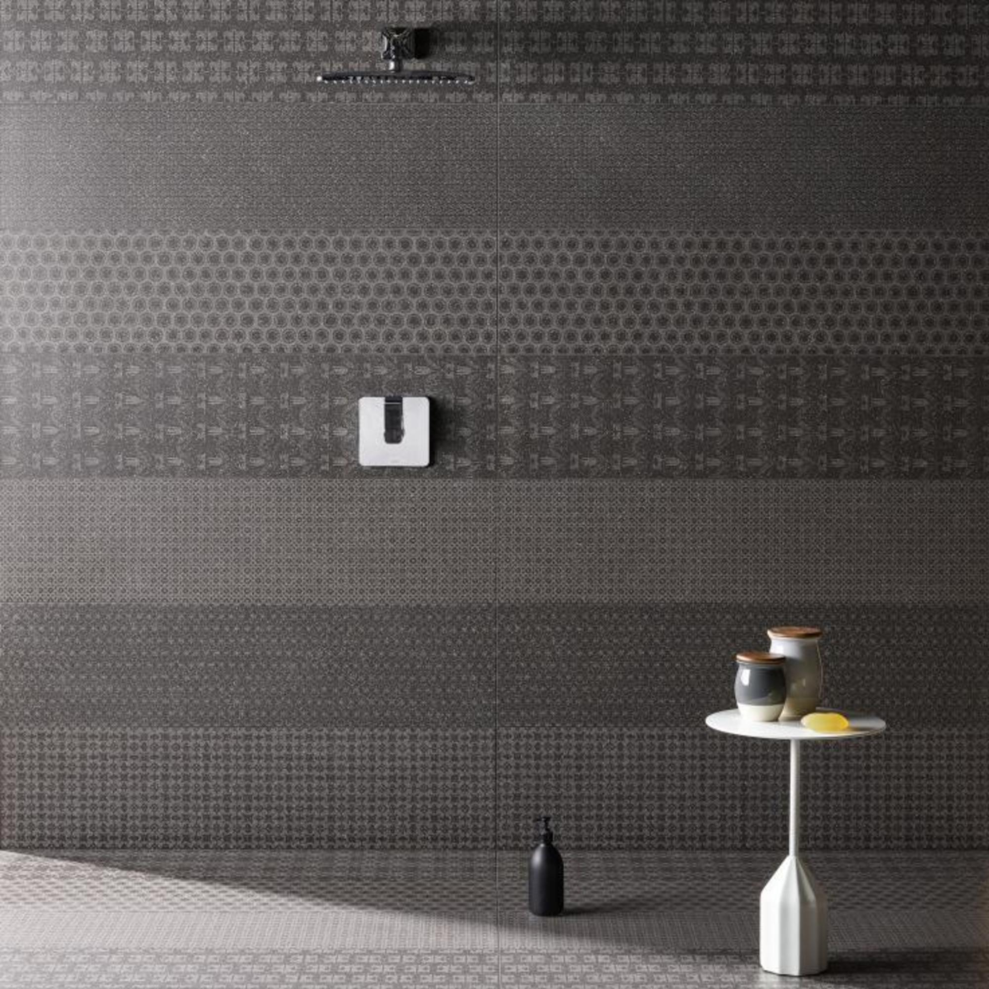 MUTINA ceramiche & design Cover Patricia Urquiola poppy black + stitch black + rounded black + boucle black + nouveau black + daphne black