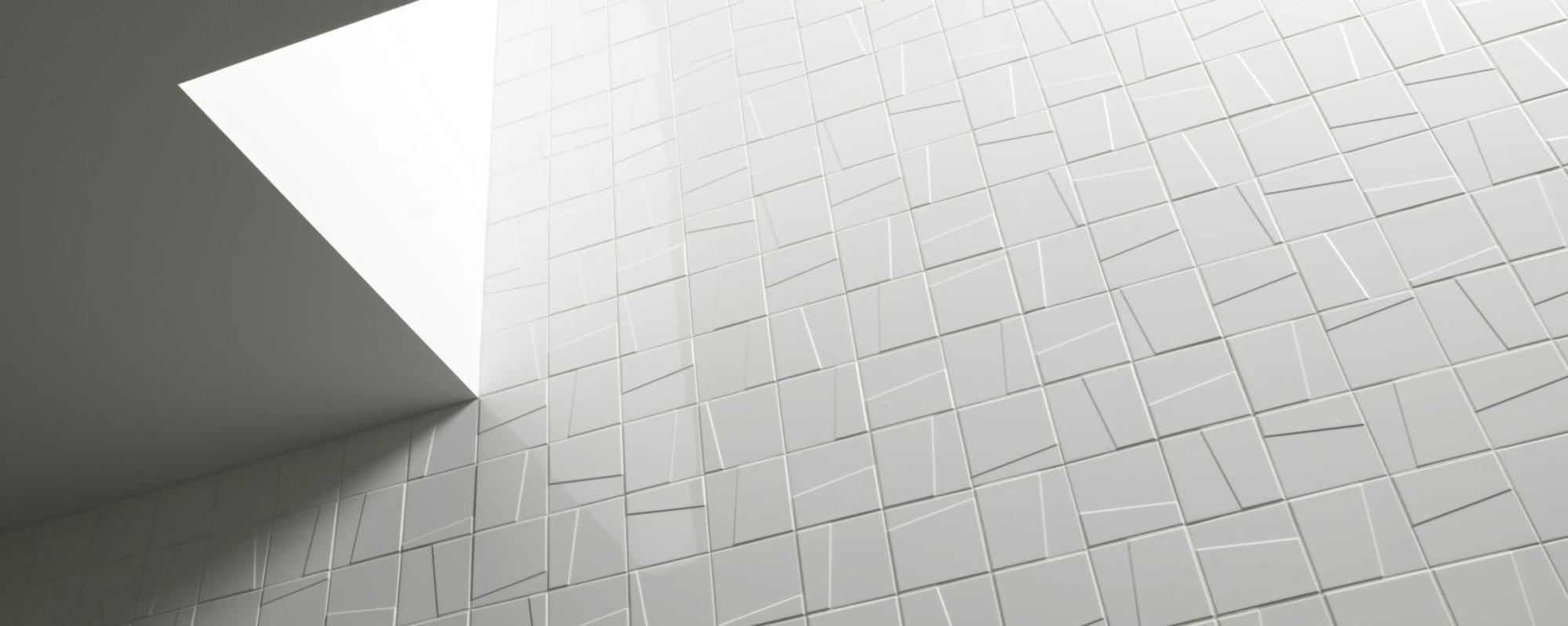 Royal MOSA tiles Murals Lines 36010 bright white mat