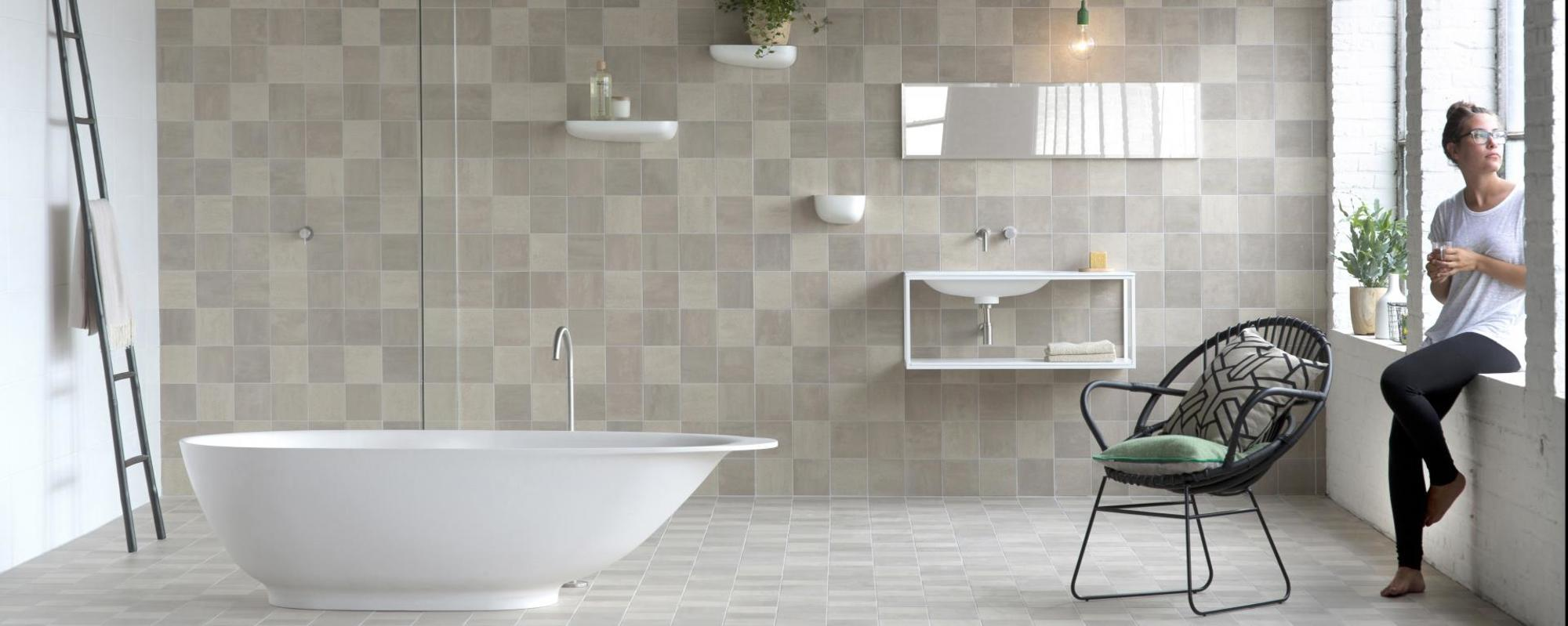 Royal MOSA tiles Scenes mid beige 6150V grain & 6151V clay & 6152V sand 15x15