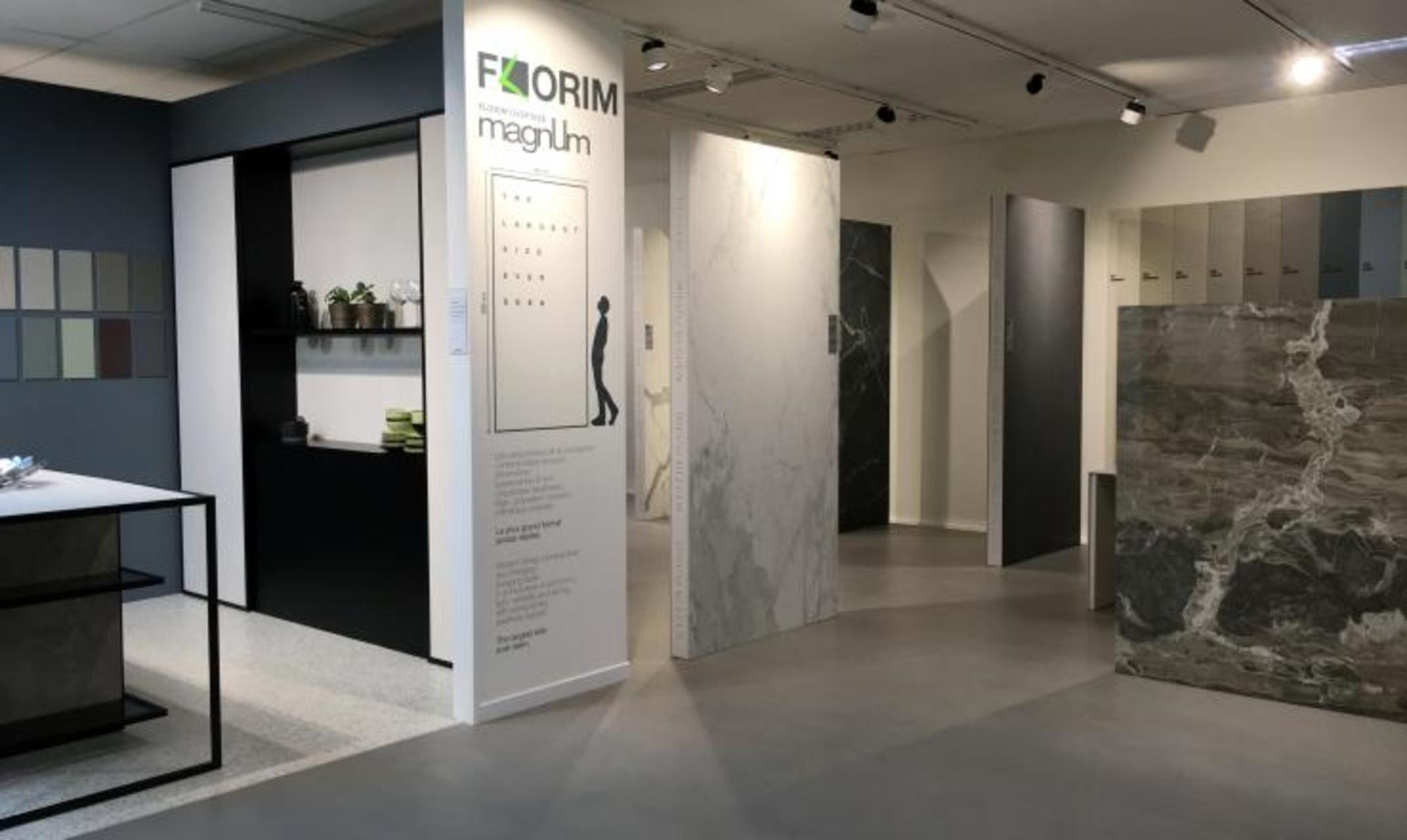 Gavra showroom Surfaces Antwerpen Geel Magnum Florim Stone